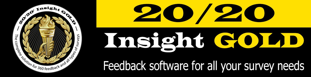20/20 Insight GOLD-survey software-measure training